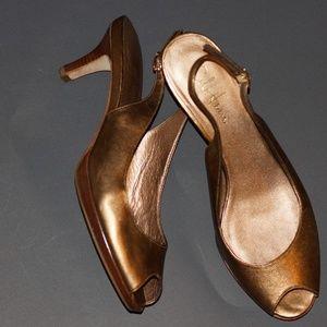 👠Cole Haan Nike Air Bronze Slingback Heels 9 1/2